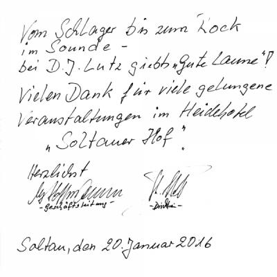 Referenzen - DJ Soltau buchen - Soltauer Hof