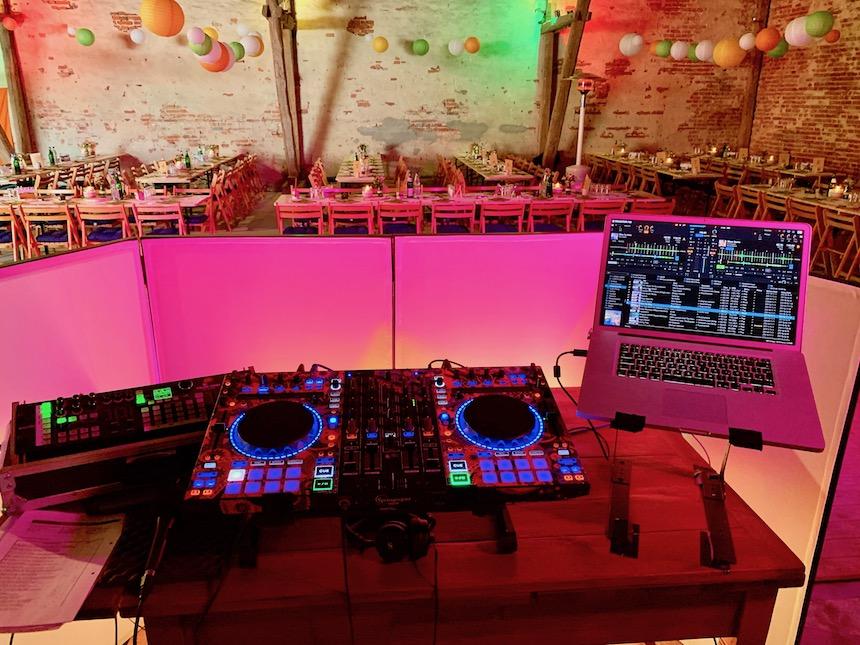 DJ Hochzeit Aufbau Technik